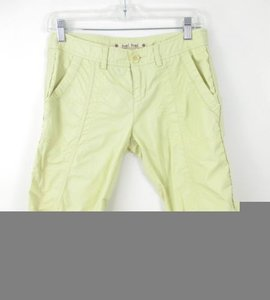 Hei Hei Anthropologie Crop Cotton Capris 0 Cargo Pants Yellow