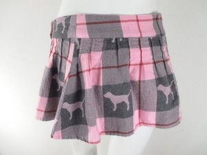 Victoria's Secret Victorias Pink Dog Mini Skirt Pink, Gray
