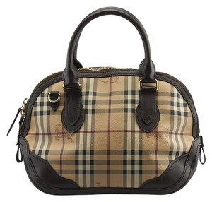 373a43ea24de Burberry Orchard Haymarket Check Satchel in Beige