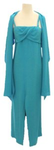 Givenchy Silk Turquoise Gown Full Length Dress