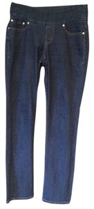 Jag Jeans Dark Wash Boot Cut Size 8 Non-smoking Home Relaxed Fit Jeans-Dark Rinse