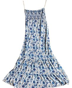 Blue and white Maxi Dress by Poof! Apparel