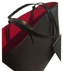 Mansur Gavriel Satchel in Black With Red Inside
