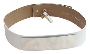 Sportmax white leather belt