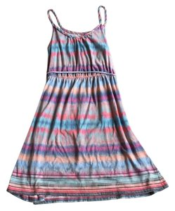 SO short dress Pink, blue, and grey. on Tradesy