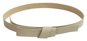 Max Mara cream knot leather belt