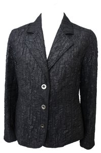 Chico's 3 Button Crinkle Black Blazer