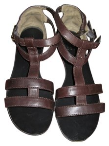 Pelle Moda Gladiator Brown Dark Brown Sandals