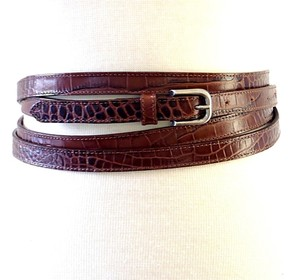 Dries van Noten multi loops brown leather belt