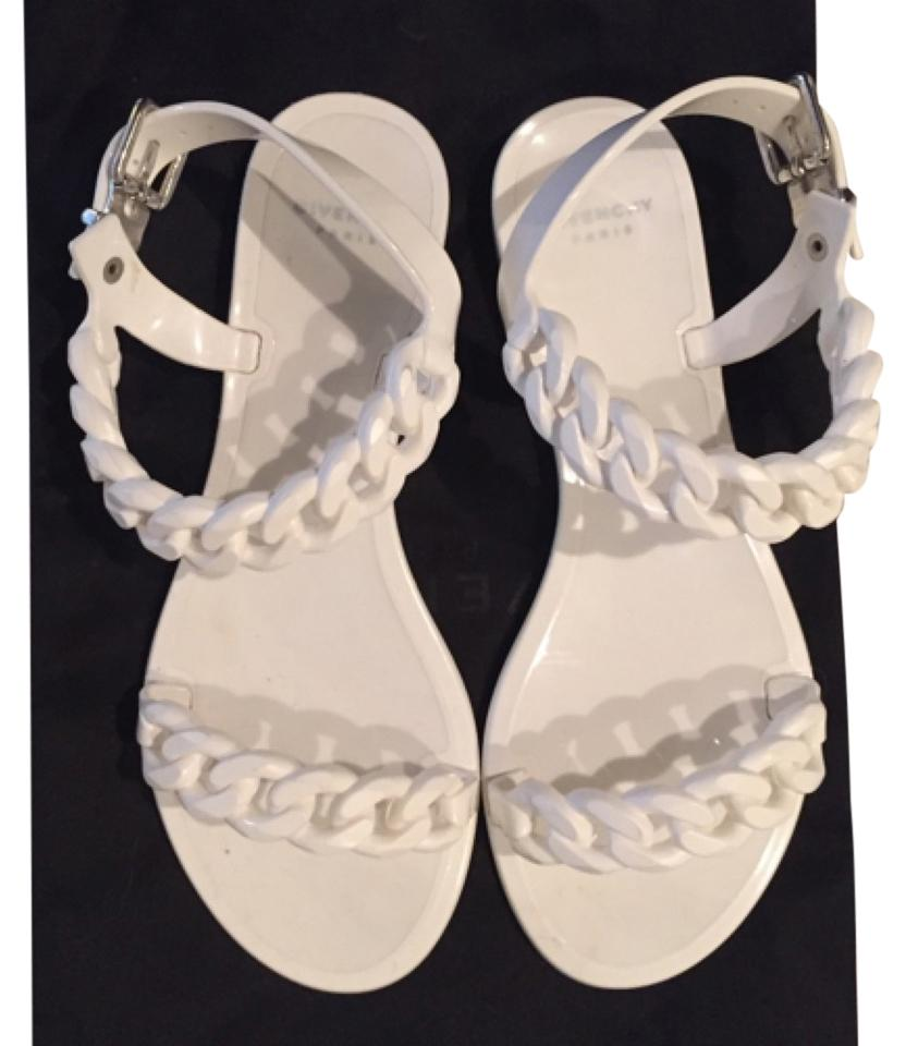 76de2562be54 Givenchy White Jelly Chain Sandals Size US 6 Narrow (Aa