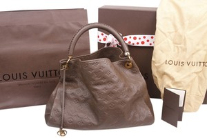 Louis Vuitton Leather Empreinte Ombre Brown Satchel in Taupe