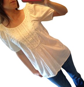 Juicy Couture Embroidered Lace Top Cream