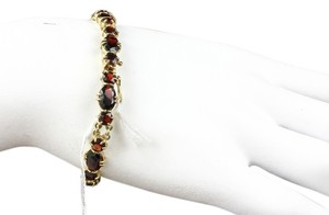 Ladies Red Precious Stone Bracelet Red Stones ladies Bracelet set in 08kt yellow gold