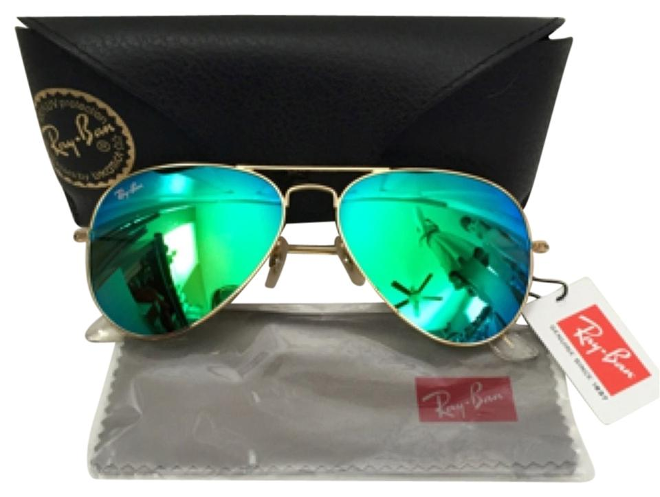 9ec12a7dcbd ... green or orange mirror sunglasses blue mirror 112 17 c0490 2a61a  czech ray  ban large gold frame mirrored aviator 538ce f45cd