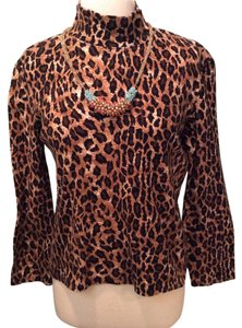 Jones New York Top Animal, leopard, cheetah