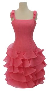 Victor Costa Ruffled Dress
