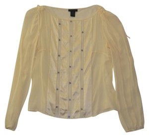 The Limited Lightweight Silk Spring Top Cream