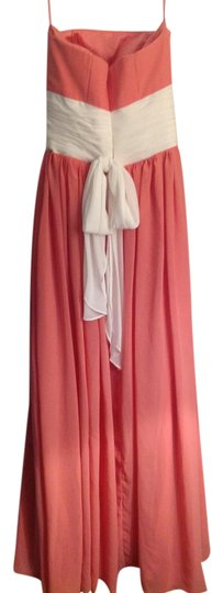 Watermelon Chiffon Pink Formal Bridesmaid/Mob Dress Size 4 (S)