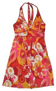 a.n.a. a new approach short dress Multi-Colored Sun Cotton Print on Tradesy