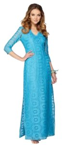 Sky Blue Maxi Dress by Lilly Pulitzer Crochet Lace Maxi