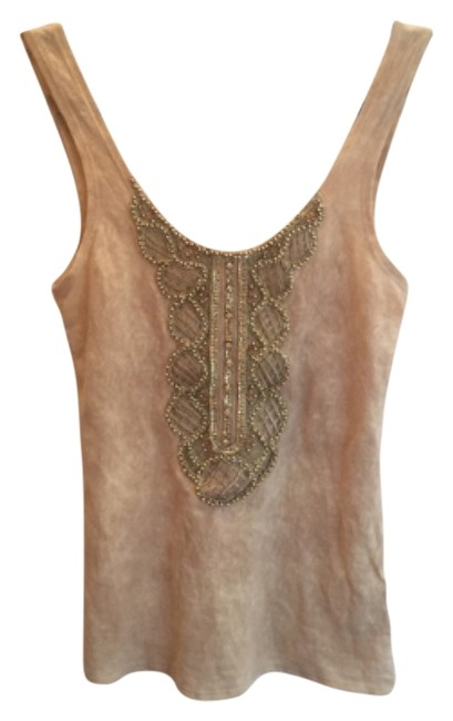 Item - Embellished Tank Varied Neutrals and Gold Top