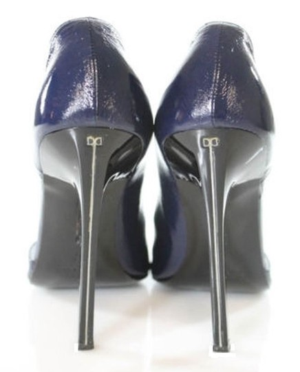 Ruthie Davis D'orsay Open Toe Peep Toe Midnight Blue Pumps