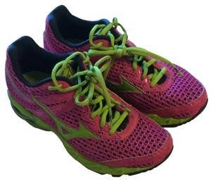 Mizuno Hot Pink/lime Athletic