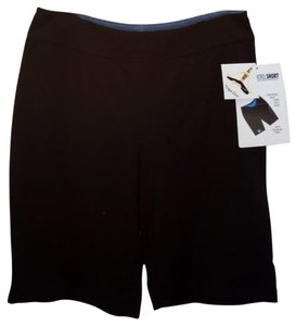 YOGA GIRL Bermuda Shorts BLACK W ANIMAL TRIM