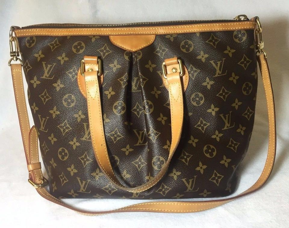 471058e7eb88 Louis Vuitton Palermo Pm Monogram Tote Brown Canvas Shoulder Bag - Tradesy