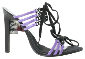 Ruthie Davis Strappy Lace-up Purple Sandals