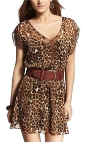 Express short dress Leopard on Tradesy