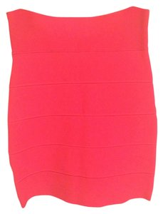 BCBGMAXAZRIA Bodycon Pencil Mini Skirt pink