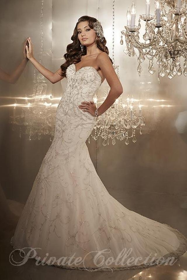 House of Wu Blush Over Netting 18971 Sexy Wedding Dress Size 6 (S ...