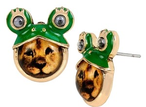 Betsey Johnson Betsey Johnson Costume Critters Frog Lion Stud Earrings NWT $25