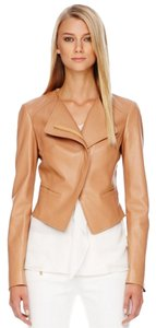 Michael Kors Italy Leather Camel Coat Summer Tan Leather Jacket