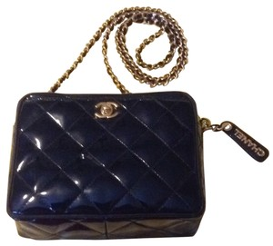 Chanel Vintage Camera Quilted Classic Patent Cross Body Bag