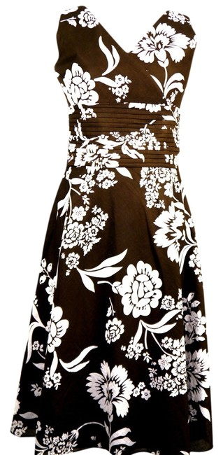 Preload https://item2.tradesy.com/images/ann-taylor-dress-brown-and-white-1184511-0-0.jpg?width=400&height=650