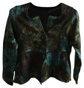 Sharon Young Brown/turquoise Blazer