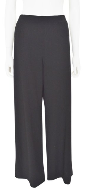 Giorgio Armani Wide Leg Unlined Trouser Pants Black