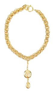 Chanel Vintage Chanel Gold Tone Coco Figure Removable Pendant Charm Chain Necklace