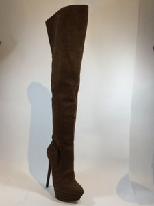 Brian Atwood Over The Knee Camel Boots