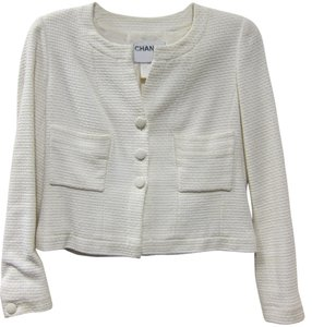 Chanel Vintage Tweed IVORY Jacket