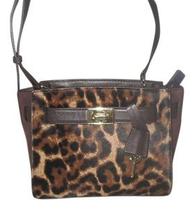 Michael Kors Next Day Shipping Leopard / Brown Messenger Bag