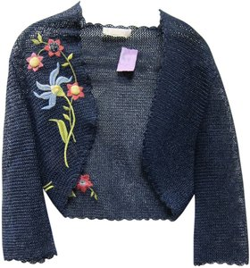 Chloé Chloe Embroidered Bolero Navy Jacket