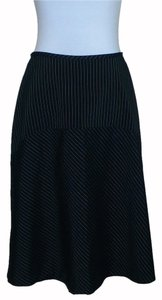 Newport News Pinstripe A-line Skirt Black