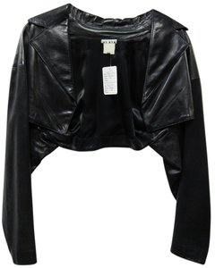 ALAÏA Vintage Bolero BLACK Leather Jacket