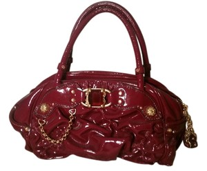 Juicy Couture Leather Satchel in Raspberry
