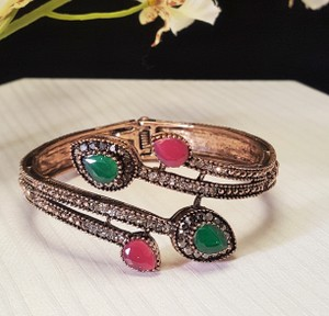 Other Bohemian Turkish Bracelet Copper Plating Green and Red
