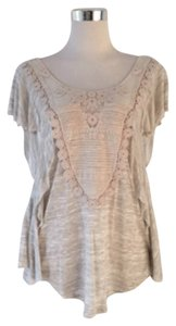 Free People Top Heathered Oatmeal