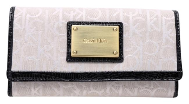 Item - Stone Beige/Black Womens Candice Lurex Mega Flap Wallet